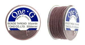 One-G Beading Thread Mauve