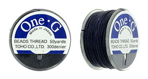 One-G Beading Thread Navy