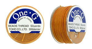 One-G Beading Thread Orange