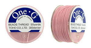 One-G Beading Thread Pink