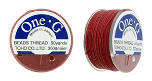 One-G Beading Thread Red