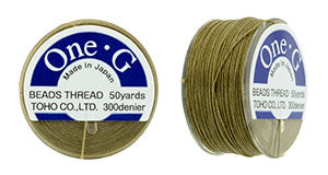 One-G Beading Thread Sand Ash