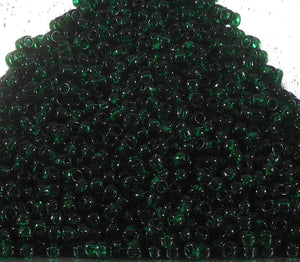 11/0 Toho Transparent Dark Emerald Green