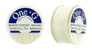 One-G Beading Thread White