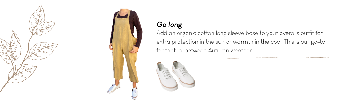 Organic Cotton Long Sleeve Top with Overalls