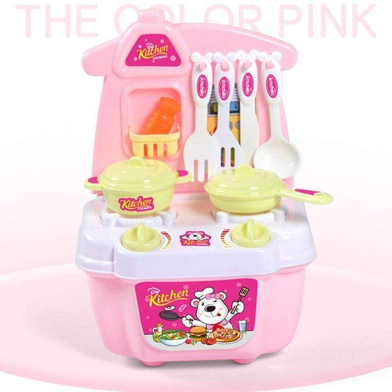 Baby Miniature Kitchen Plastic Pretend Play Food Children Toys Kids Kitchen Cooking Toy Set For Girls Games Hot Sales