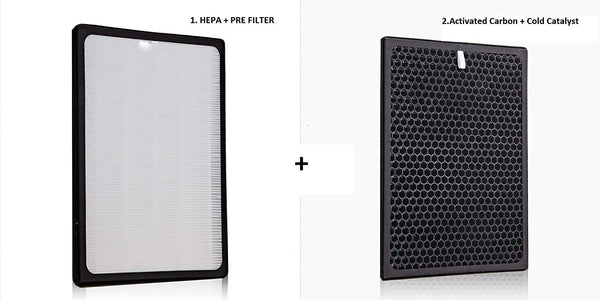Buy online Purita Elegance Hepa Filter and carbon filter to remove pollutants