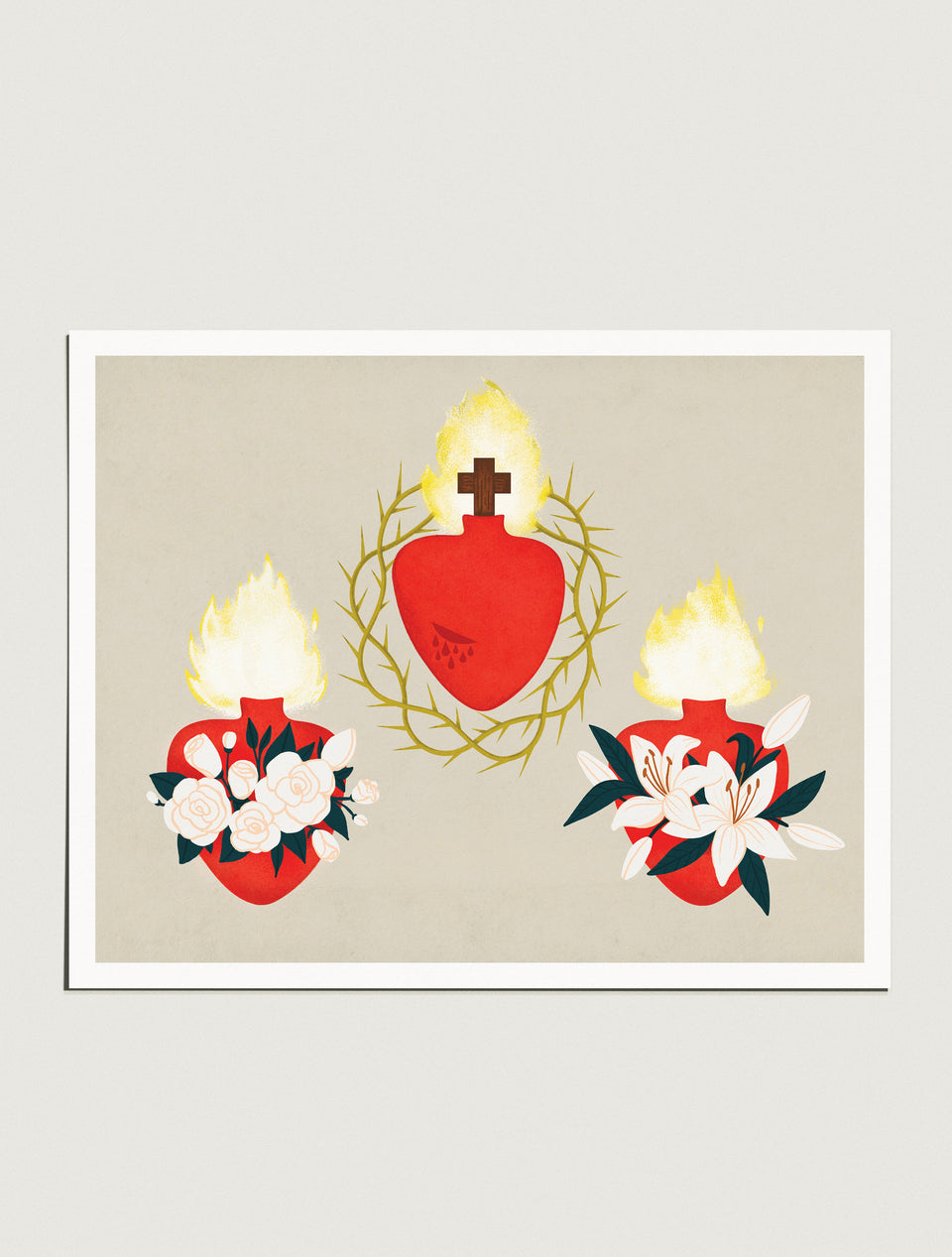 Prints: Holy Family Hearts