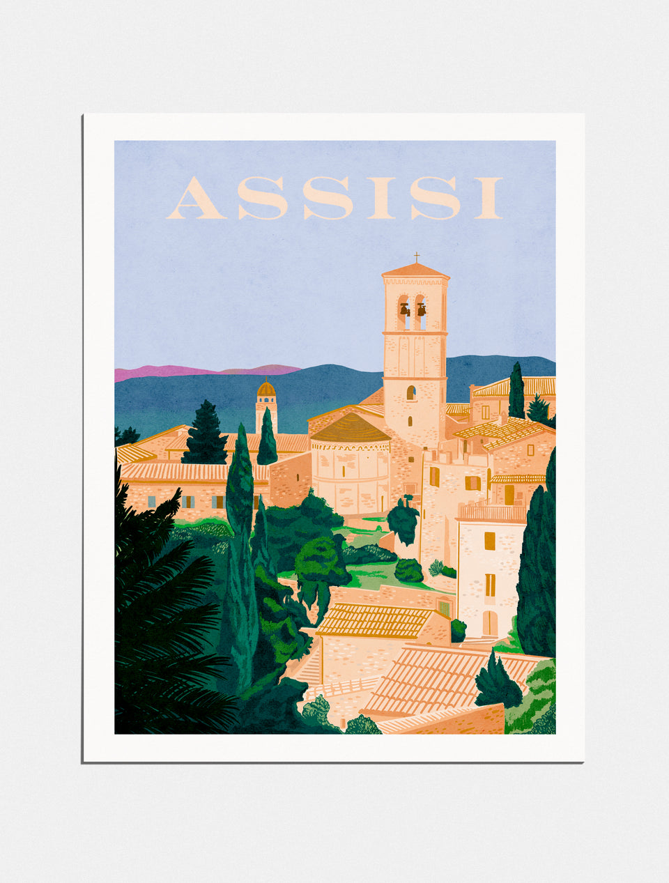 Premium Poster: Pilgrimage to Assisi, 18x24