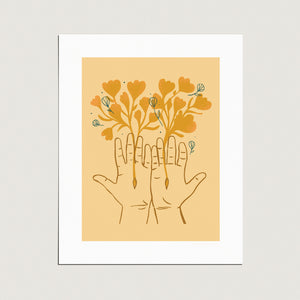 Print: The Giving Hands