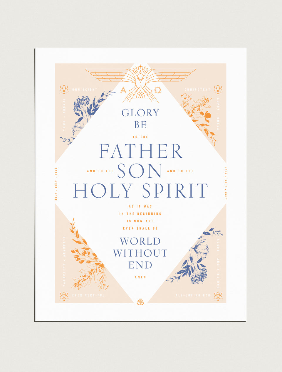 Premium Poster: Glory Be Prayer, 18x24