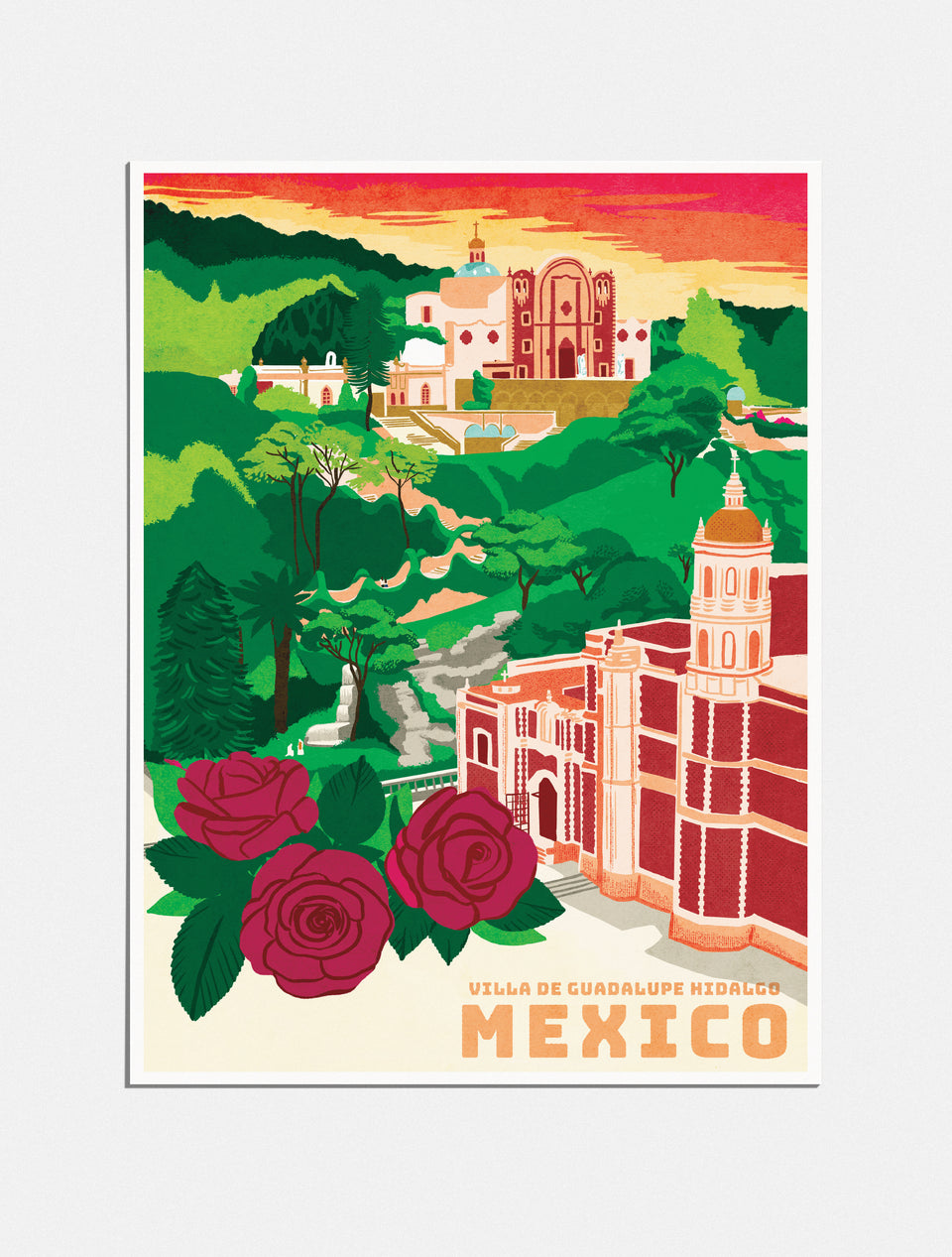 Premium Poster: Pilgrimage to Mexico City, 18x24