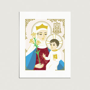 Print: Our Lady of Walsingham, with Shrine, 8x10