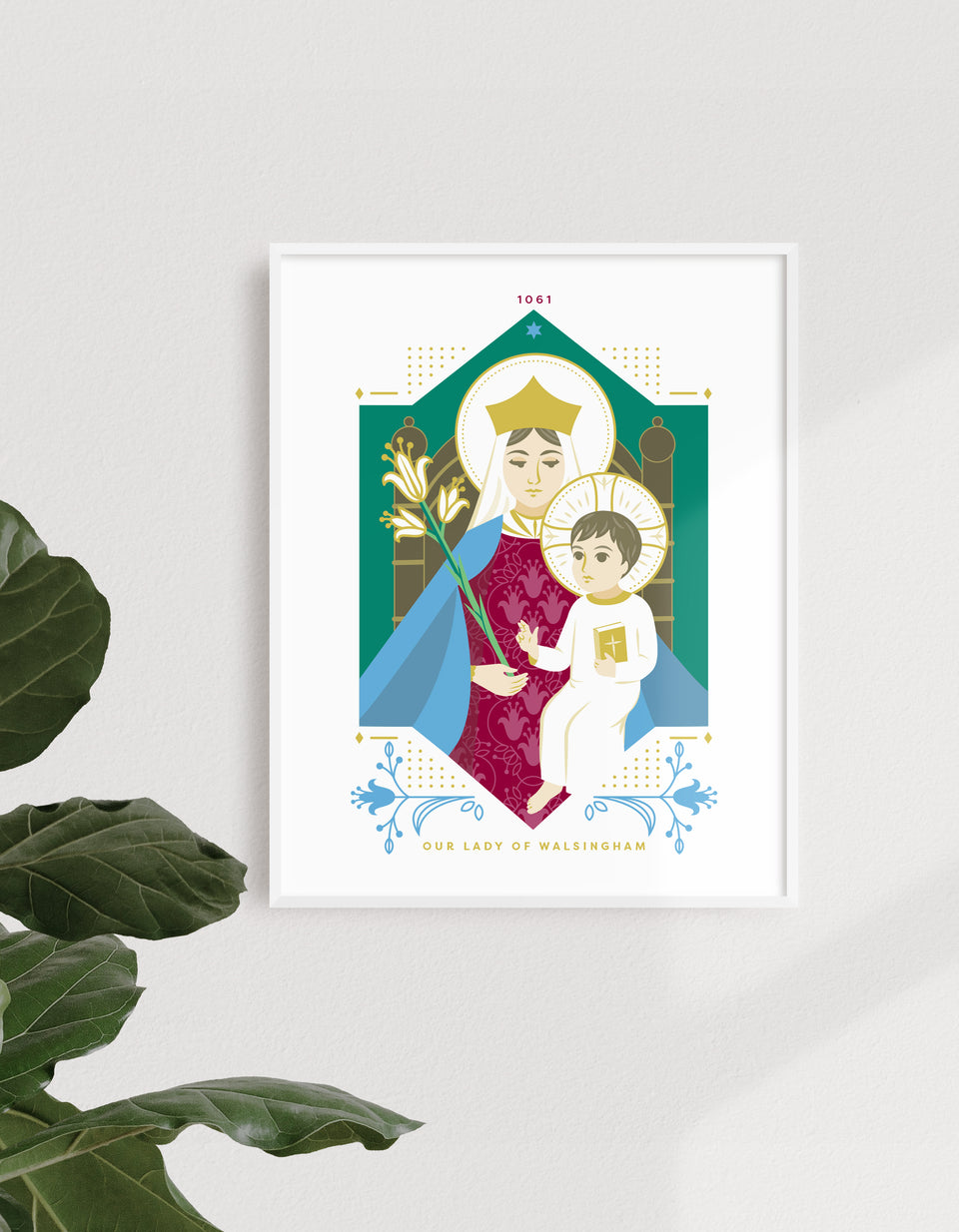 Print: Our Lady of Walsingham, Traditional, 8x10