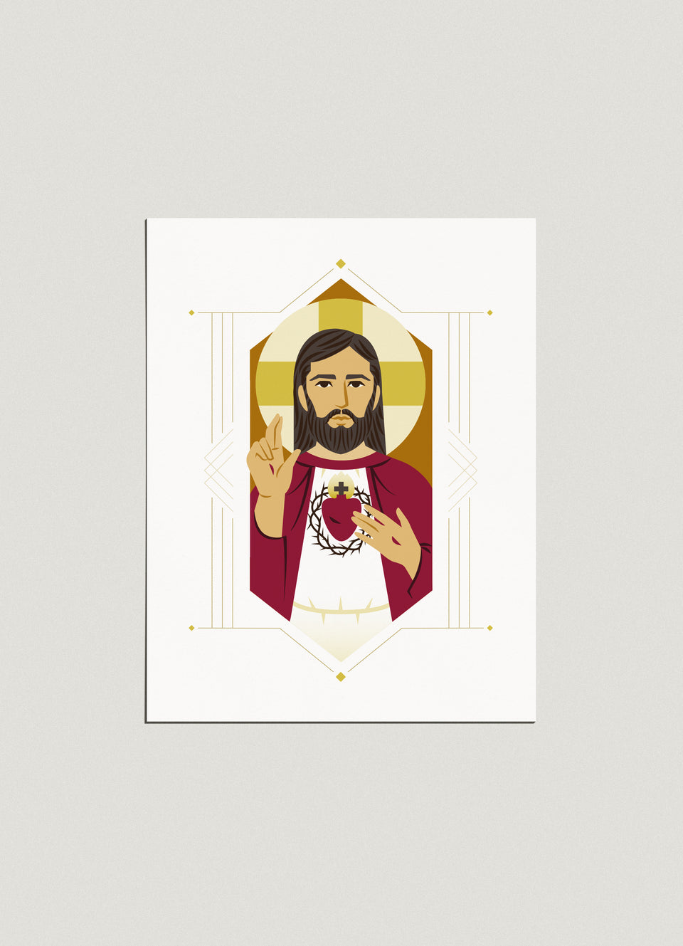 Print: Sacred Heart of Jesus, 8x10
