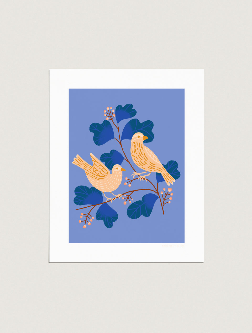 Print: Two Humble Sparrows