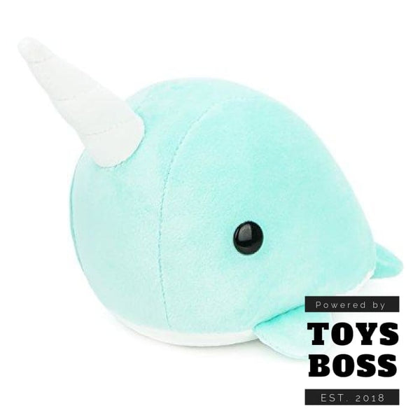 Bellzi Teal Narwhal Stuffed Animal Plush Toy Adorable Toy Plushies A