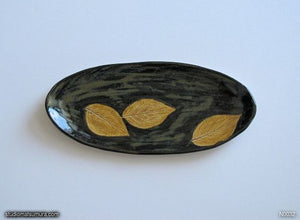 Handmade dinnerware, Dancing leaves, variant 5