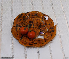 Load image into Gallery viewer, Handmade dinnerware, Leaves and a purple Snail, another image