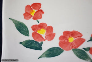 Handmade dinnerware with Sumi-e drawings of a Camellia, another image