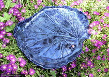 Load image into Gallery viewer, Handmade dinnerware, Single Rhubarb leaf large  platter, another image