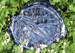 Handmade dinnerware, Single Rhubarb leaf large  platter, another item image