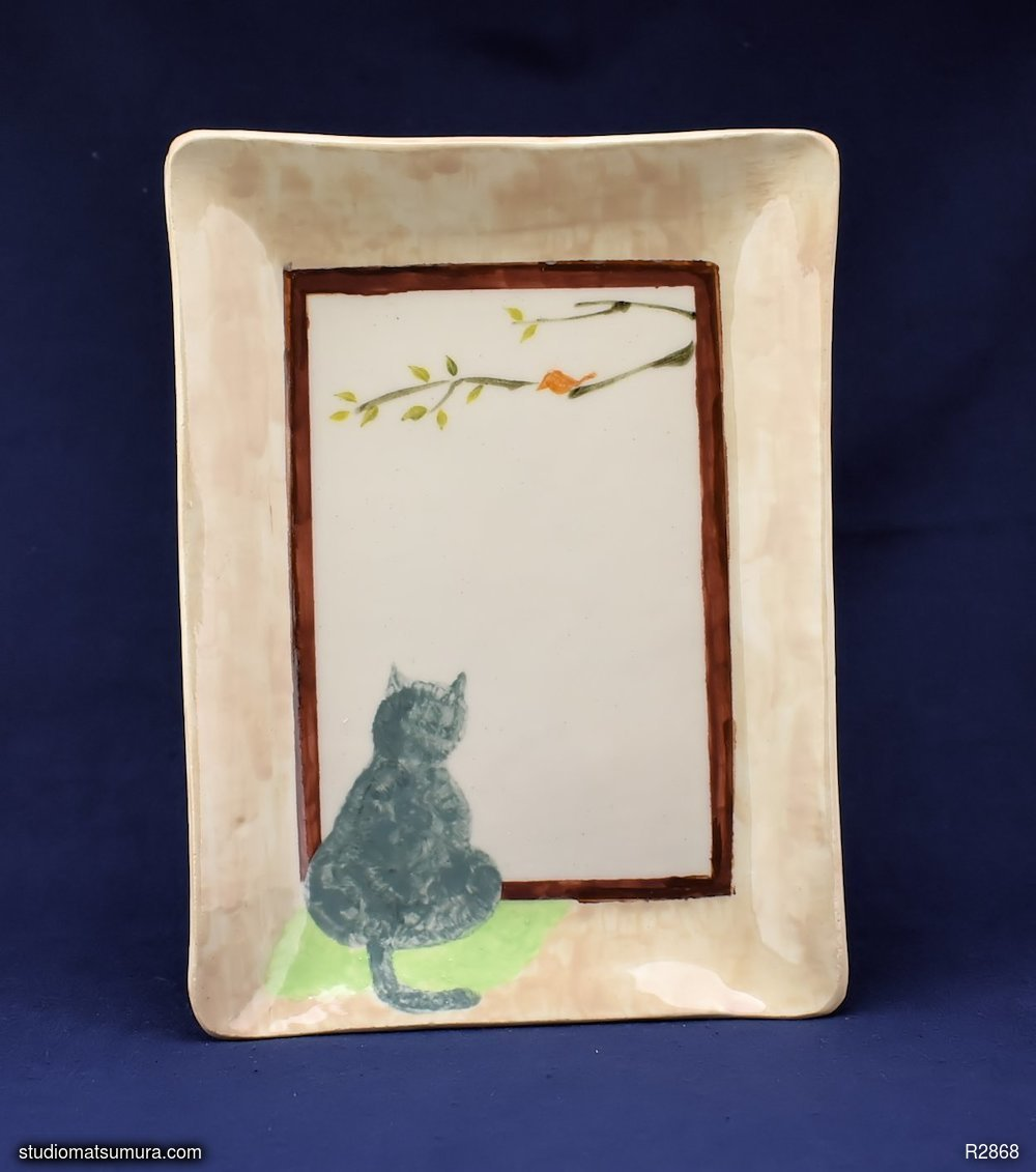 Handmade dinnerware, A cat by the window, handmade