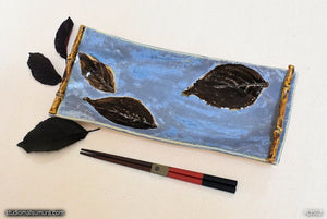 Handmade dinnerware, Dancing leaf, dark brown leaf, another image