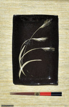 Load image into Gallery viewer, Handmade dinnerware with Sumi-e drawings of a Japanese Pampas grass, another image
