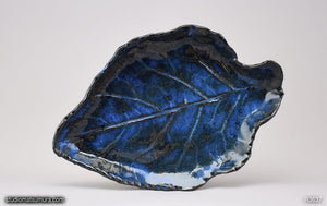Another angle of  Handmade dinnerware, Kohlrabi leaf plate, variant 5