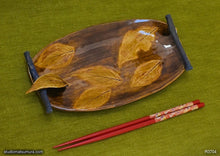 Load image into Gallery viewer, Handmade dinnerware, Dancing leaf with decoration, another image
