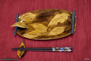 Item image of Handmade dinnerware, Dancing leaf with decoration