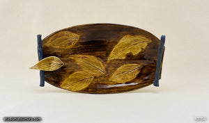 Handmade dinnerware, Dancing leaf with decoration