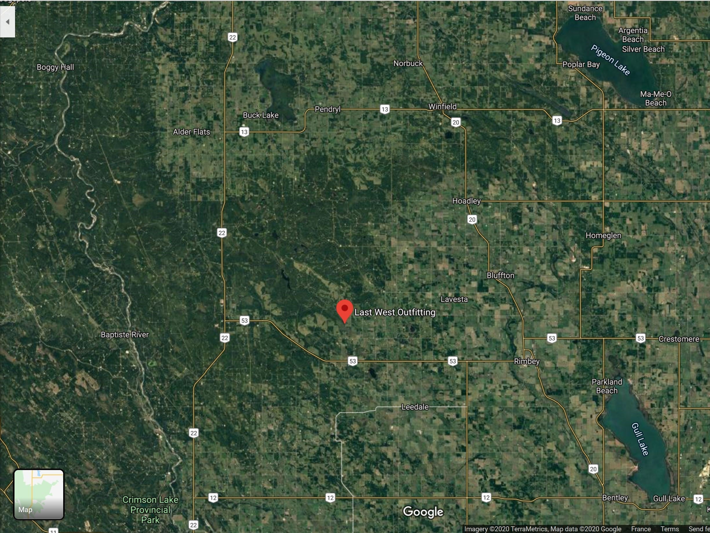 Last West Outfitters Satellite image