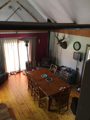 view on the living room of our hunting lodge