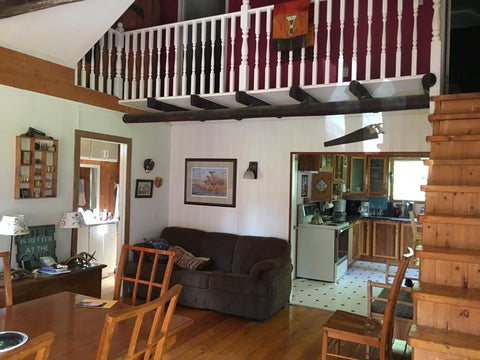 Hunting lodge indoor with all facilities