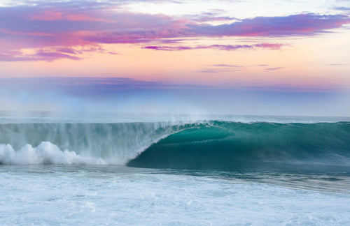 Sunrise Barrel Wave Print