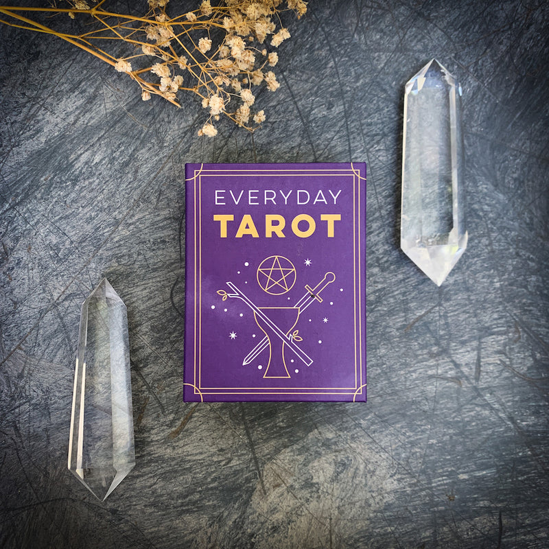 Everyday Tarot Deck with double terminated clear quartz crystal points