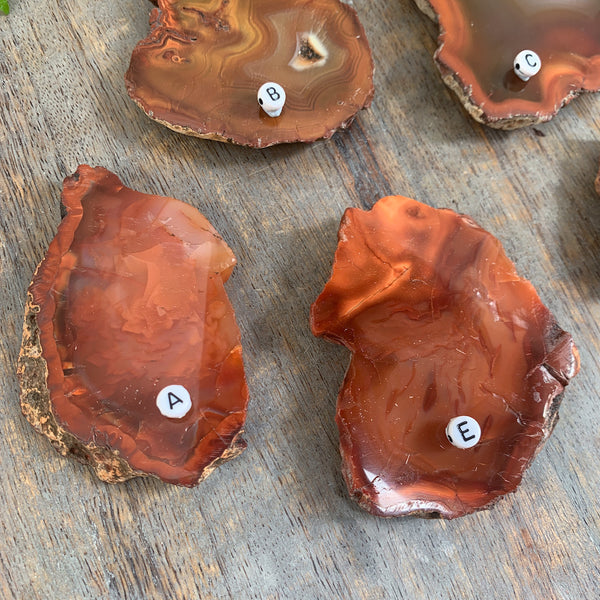 Carnelian Polished Natural Crystal Slabs Cinnabar Soul