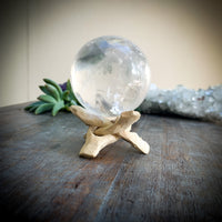 Entwined Orb Stand with Clear Quartz Crystal Ball