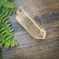 Lemurian Seed Quartz crystal in pink quartz