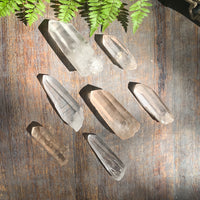 Lemurian Seed Quartz crystals in clear quartz and pink quartz