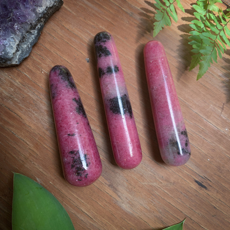 rhodonite massage wand