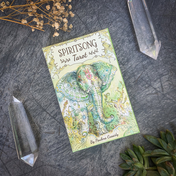 Spiritsong Tarot Deck with quartz crystals