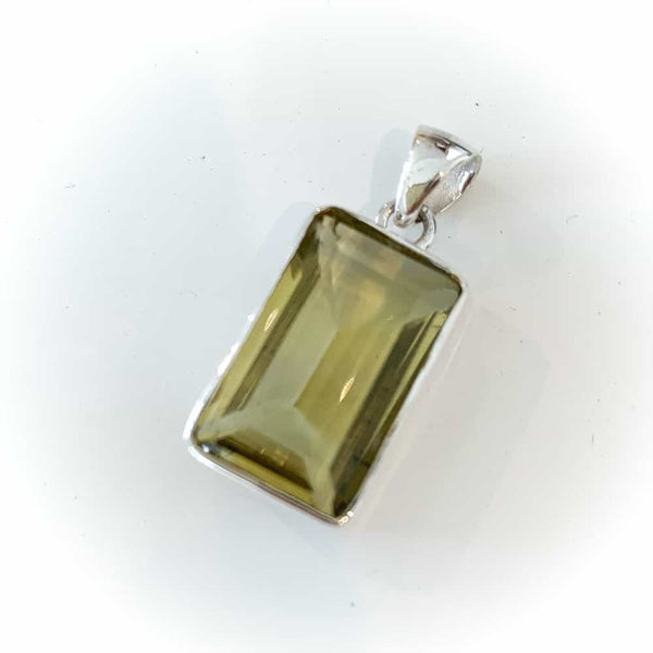 LEMON QUARTZ FACET PENDANT