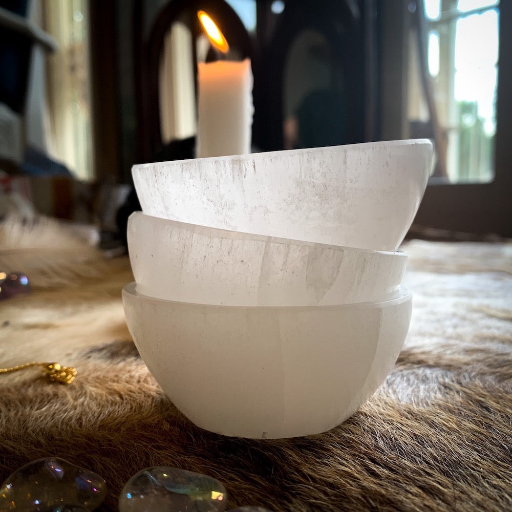 SELENITE BLESSING BOWL