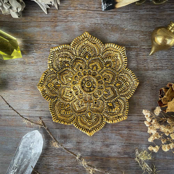 GOLDEN MANDALA INCENSE HOLDER