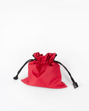 red nylon beans bag