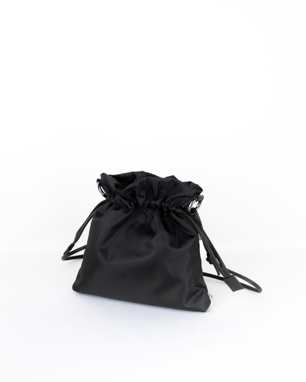 black nylon beans bag