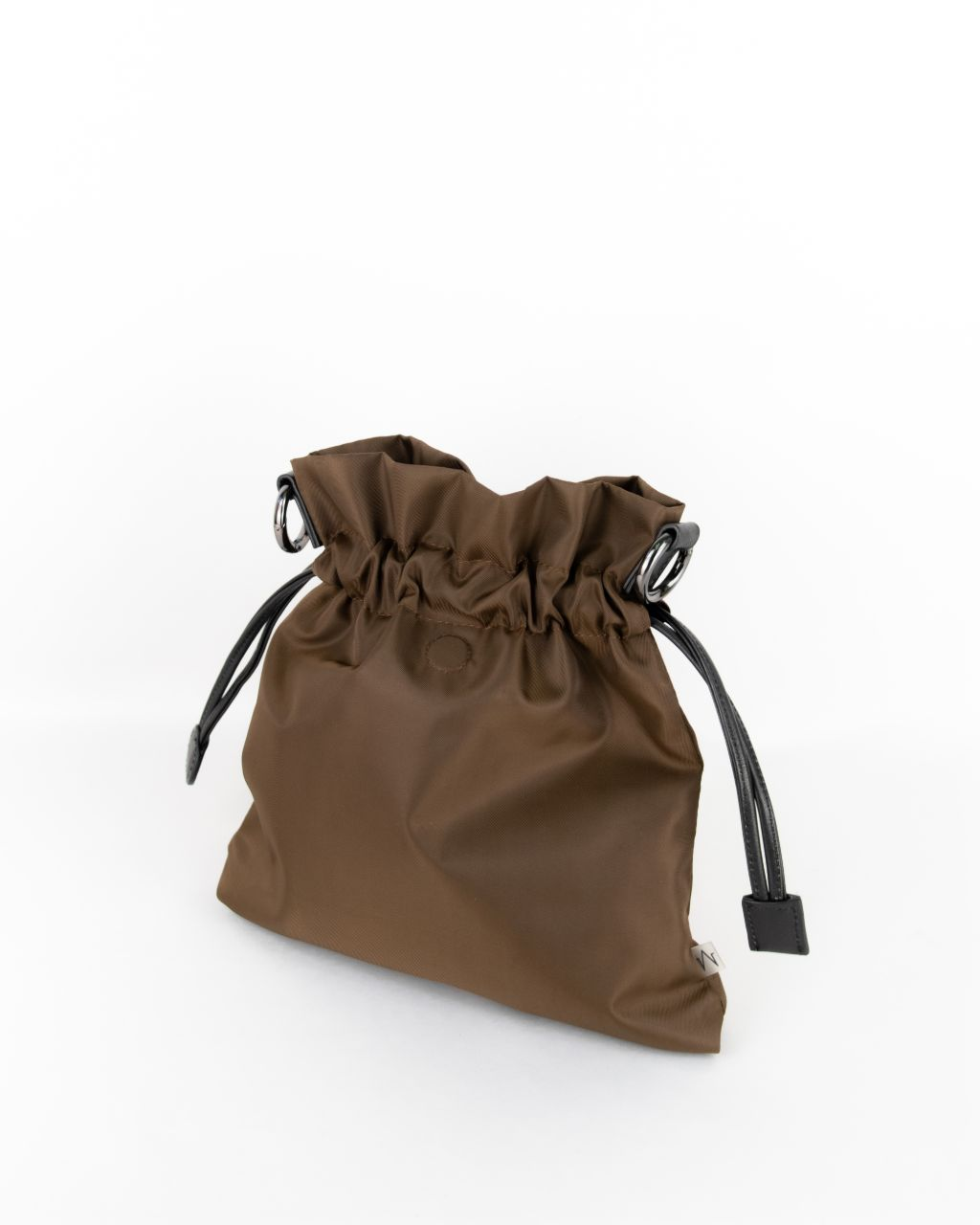 brown nylon beans bag